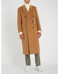 Brioni - Double-breasted Camel-hair Coat - Lyst
