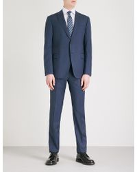Emporio Armani   Pindot Modern-fit Wool Suit   Lyst