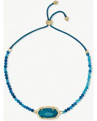Kendra Scott - Elaina 14ct Yellow Gold-plated And Teal Agate Bracelet - Lyst