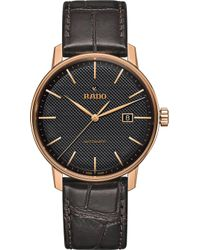 Rado - R22877165 Coupole Classic Gold-plated Stainless Steel Watch - Lyst