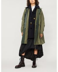 Sacai Underlay-detail Oxford-cotton Coat