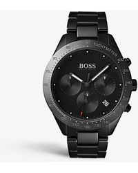a3aadc7b5 BOSS - 1513581 Talent Carbon-coated Stainless Steel Watch - Lyst