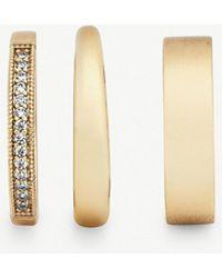 Kendra Scott - Tate 14ct Gold-plated Brass Ring Set - Lyst