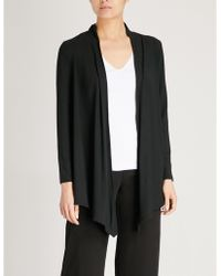 The White Company - Draped Jersey Cardigan - Lyst