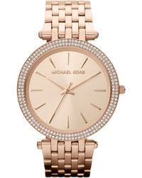 Michael Kors - Mk3192 Darci Rose Gold-toned Stainless Steel Watch - Lyst