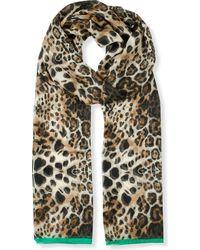 Beatrice Jenkins - Leopard Lux Silk Scarf - Lyst