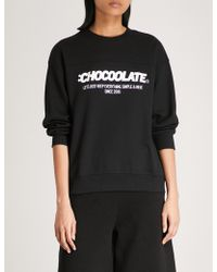 Chocoolate - Logo-print Cotton-blend Sweatshirt - Lyst