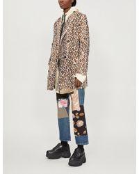 Junya Watanabe - Faux-fur Leopard Print Coat - Lyst