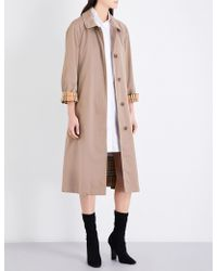 Burberry - Brighton Cotton-gabardine Car Coat - Lyst