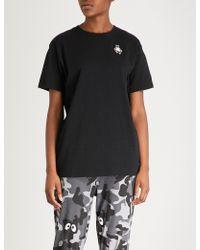 Mini Cream - Sumo Wrestling Cotton-jersey T-shirt - Lyst
