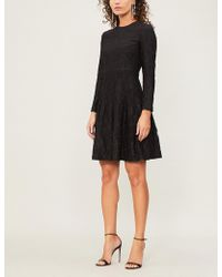 Huishan Zhang - Kiera Fit-and-flare Cotton-blend Dress - Lyst