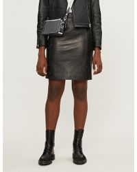 Claudie Pierlot - Clyde Studded Leather Pencil Skirt - Lyst