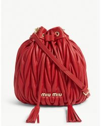 Miu Miu - Matalassé Leather Bucket Bag - Lyst
