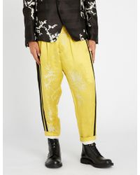 Haider Ackermann - Dianthus Regular-fit Linen And Silk-blend Trousers - Lyst