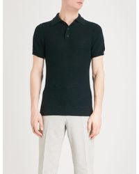 Richard James - Honeycomb Knitted Polo Shirt - Lyst