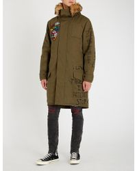 Haculla - Graphic-embroidered Cotton Parka Coat - Lyst