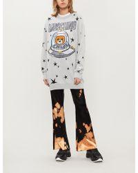 Moschino - Bear Spaceship-motif Wool Jumper - Lyst