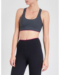 Sàpopa - Poppy Lace-trimmed Stretch-jersey Sports Bra - Lyst