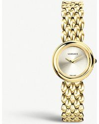 Versace - Vbn00718 V-flare Gold-tone Stainless Steel Watch - Lyst