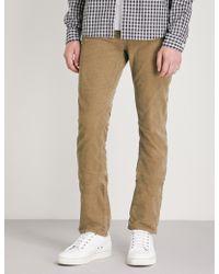 Nudie Jeans - Grim Trim Slim-fit Tapered Velvet Jeans - Lyst