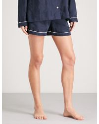 Tommy Hilfiger | Cotton-jacquard Pyjama Shorts | Lyst
