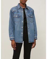 Mo&co. - Oversized Denim Jacket - Lyst