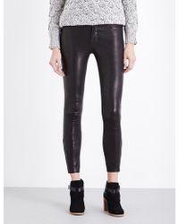 J Brand - L8001 Super-skinny Mid-rise Leather Leggings - Lyst