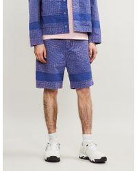 Craig Green - Acid-wash Straight Cotton-twill Shorts - Lyst