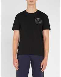 Valentino - Bead-embellished Cotton-jersey T-shirt - Lyst