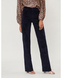 Ba&sh - Mid-rise Straight Corduroy Trousers - Lyst