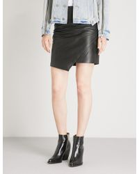 Zadig & Voltaire - Just Cuir Lisse Leather Skirt - Lyst