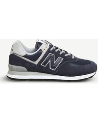 New Balance - 574 Suede And Mesh Trainers - Lyst