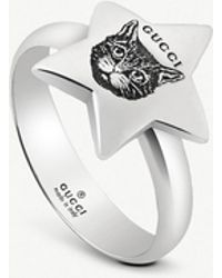 Gucci - Blind For Love Star Shape Sterling Silver Ring - Lyst