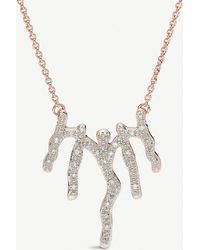 Monica Vinader - Waterfall 18ct Rose-gold Vermeil And Diamond Necklace - Lyst