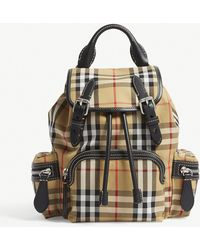 Burberry - Brown Check Vintage Small Cross Body Rucksack - Lyst