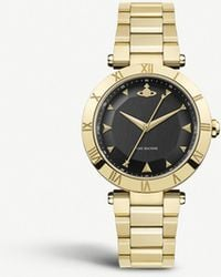 Vivienne Westwood - Vv206bkgd Montagu Gold-plated Stainless Steel Watch - Lyst