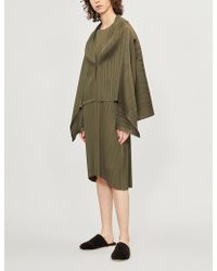 Pleats Please Issey Miyake - Monthly V-neck Pleated Jacket - Lyst