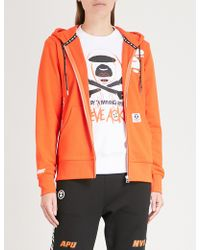 Aape - Printed Stretch-cotton Hoody - Lyst