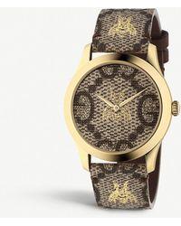Gucci - Ya1264068 G-timeless Gold Pvd Watch - Lyst
