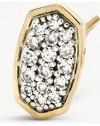 Kendra Scott - Gypsy 14ct Yellow-gold And Pavé Diamond Earrings - Lyst