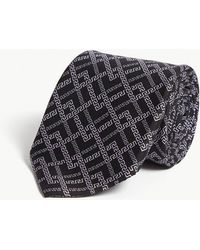 Versace - Greek Weave Silk Tie - Lyst