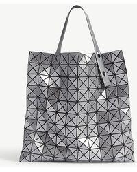 Bao Bao Issey Miyake - Bao Issey Miyake Silver Prism Metallic Tote Bag - Lyst
