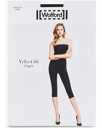 5877e3a765f8 Wolford Summer Lace Capri Leggings in White - Lyst