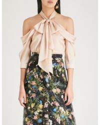 Erdem - Elin Silk-satin Top - Lyst