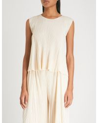 Pleats Please Issey Miyake - Flared Pleated Top - Lyst