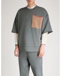 Jil Sander - Patch Pocket Cotton-jersey Sweatshirt - Lyst