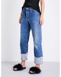 Kendall + Kylie - Safety Pin-detail Vintage-fit High-rise Jeans - Lyst