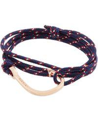 Miansai - Rose Gold Rope Hook Bracelet - Lyst