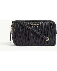 Miu Miu - Matelassé Leather Cross-body Bag - Lyst