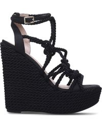 9d6dbe1773d KG by Kurt Geiger - Notty Rope Detail Wedge Sandals - Lyst